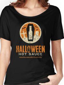 Halloween Hot Sauce Distressed logo Women's Relaxed Fit T-Shirt