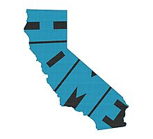 California HOME state design Photographic Print