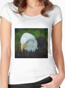 Bald Eagle, Women's Fitted Scoop T-Shirt