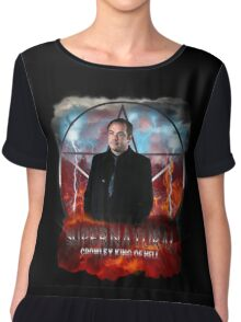 Supernatural Crowley King of Hell Chiffon Top