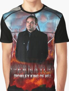 Supernatural Crowley King of Hell Graphic T-Shirt
