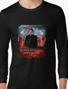 Supernatural Crowley King of Hell Long Sleeve T-Shirt