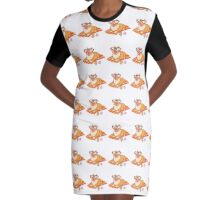 Beach Bum Corgi Graphic T-Shirt Dress