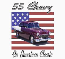 1955 Chevy - An American Classic with Flag Unisex T-Shirt