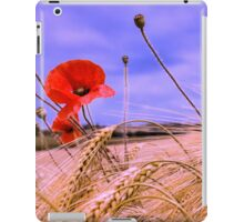 Barley with Poppies iPad Case/Skin