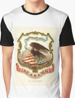 Alabama Historical Coat of Arms  Graphic T-Shirt
