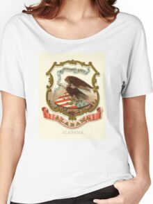 Alabama Historical Coat of Arms  Women's Relaxed Fit T-Shirt