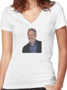 Jon Stewart Women's Fitted V-Neck T-Shirt