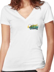 Seafoam Scoundrels Women's Fitted V-Neck T-Shirt