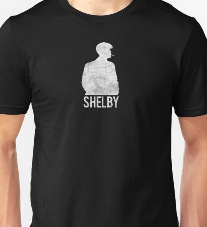 Peaky Blinders - Shelby Silhouette - White Dirty Unisex T-Shirt