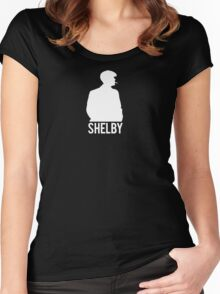 Peaky Blinders - Shelby Silhouette - White Clean Women's Fitted Scoop T-Shirt