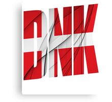 DNK - Danmark Flag Canvas Print