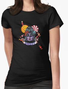 Sweet Skull Womens Fitted T-Shirt