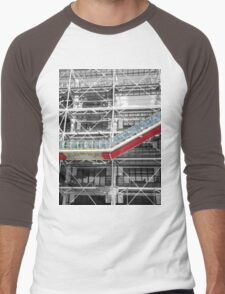 Red Slash no. 3, Centre Pompidou Men's Baseball ¾ T-Shirt