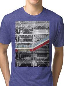 Red Slash no. 3, Centre Pompidou Tri-blend T-Shirt