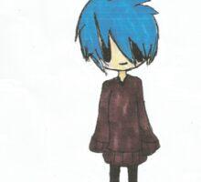 Blue Haired chibi Sticker