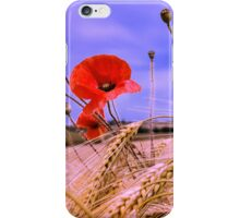 Barley with Poppies iPhone Case/Skin