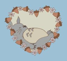 Sleeping Totoro One Piece - Short Sleeve