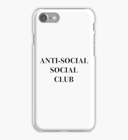 ANTI-SOCIAL SOCIAL CLUB iPhone Case/Skin