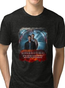 Supernatural I'm the one who gripped you tight and raised you from Perdition 2 Tri-blend T-Shirt