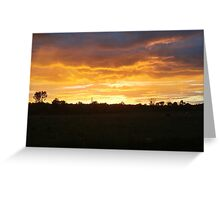 Sunset Over the Country Greeting Card