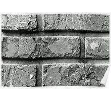 Black and White Brick Wall Poster