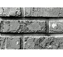 Black and White Brick Wall Photographic Print