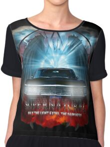 Supernatural May the light expel the darkness Chiffon Top