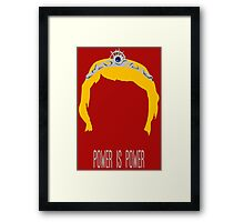 Cersei Lannister - Power is Power Framed Print