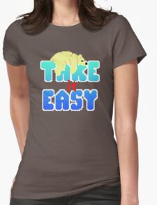 Polar Bear - Take It Easy Womens Fitted T-Shirt