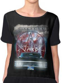 Supernatural Theme Car Chiffon Top