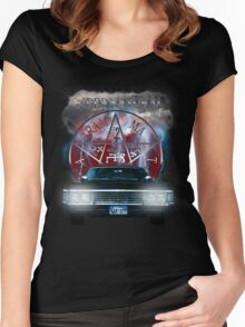 Supernatural Theme Car Women's Fitted Scoop T-Shirt