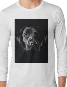 Black Lab Face  Long Sleeve T-Shirt