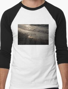 Golden Foam and Pebbles - Early Light at the Breakwater Men's Baseball ¾ T-Shirt