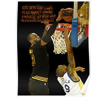 Lebron blocking the haters Poster