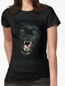 Black Panther Face Womens Fitted T-Shirt
