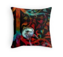 Psychedelic Smoke Ring Throw Pillow