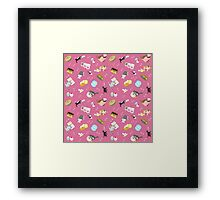 Cats Baking Cakes and other Sweets, in Pink Framed Print