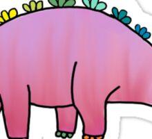 cute pink rainbow dinosaur Sticker