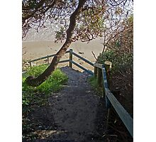 Steps to Spooky Beach, Angourie Photographic Print