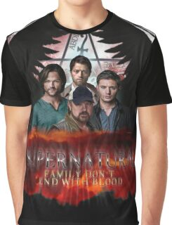Supernatural Family Dont end with blood 2 Graphic T-Shirt