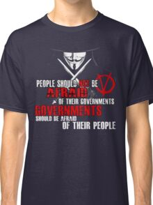 V FOR VENDETTA MOVIE GUY FAWKES CONSPIRACY QUOTE  Classic T-Shirt