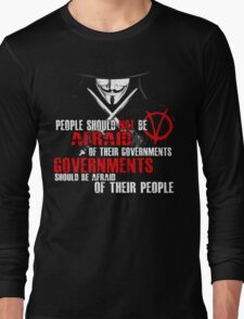 V FOR VENDETTA MOVIE GUY FAWKES CONSPIRACY QUOTE  Long Sleeve T-Shirt