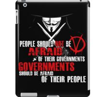 V FOR VENDETTA MOVIE GUY FAWKES CONSPIRACY QUOTE  iPad Case/Skin