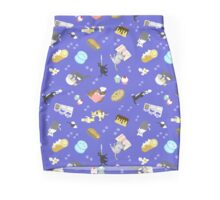 Cats Baking Cakes and other Sweets, in Blue Mini Skirt