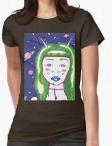 Alien Girl Womens Fitted T-Shirt