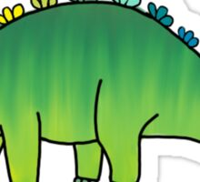 cute green rainbow dinosaur Sticker