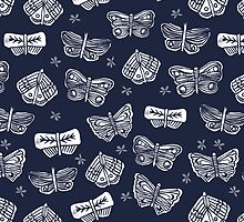 Indigo Butterflies by Andrea Lauren by Andrea Lauren