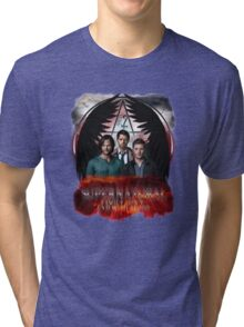 Supernatural Family Dont end with blood Tri-blend T-Shirt