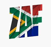 ZAF - South Africa Flag Unisex T-Shirt